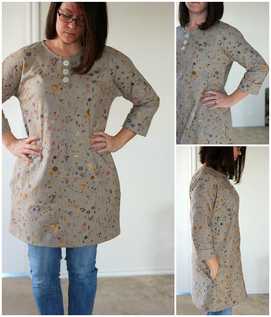 Modified Vogue 8840 in Nani Iro Brushed Cotton by Aja Vaz