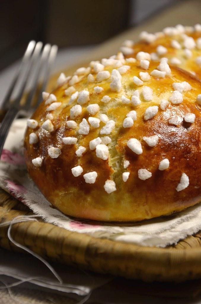 Brioche moelleuse à la fleur d'oranger et au sucre