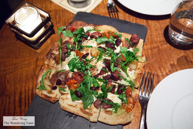 Flatbread, Braised Lamb, Pickled Peppers and Crispy Potatoes