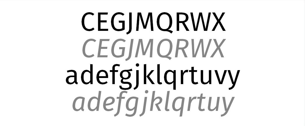 Die Besonderheiten der Fira Sans