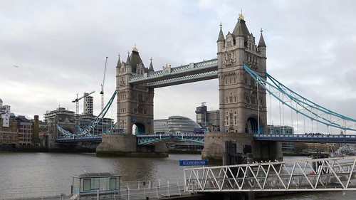Tower Bridge from St Katharine pier
