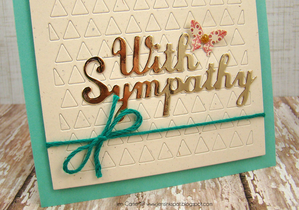 Jen Carter With Sympathy Triangles Frantic Stamper Blue Closeup Bottom