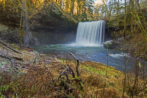winter nature water oregon falls beavercreek columbiacounty
