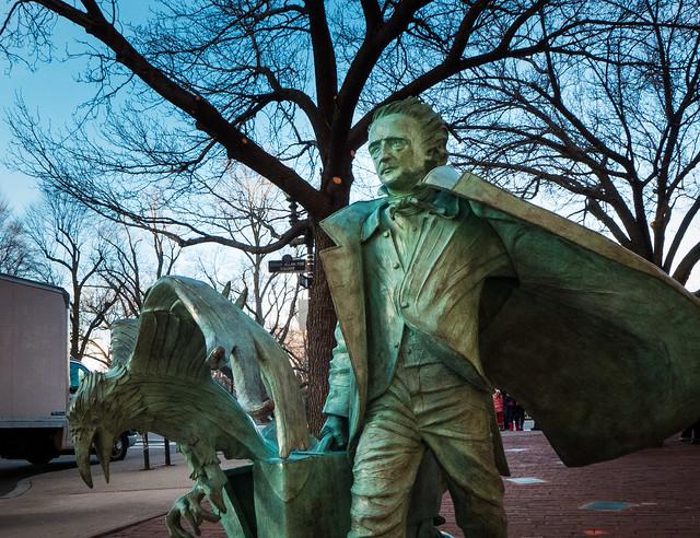 Poe Walks the Streets of Boston
