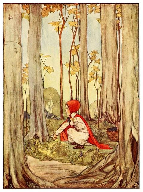 012- Caperucita roja-Favourite French fairy tales -1921-ilust. Rie Cramer