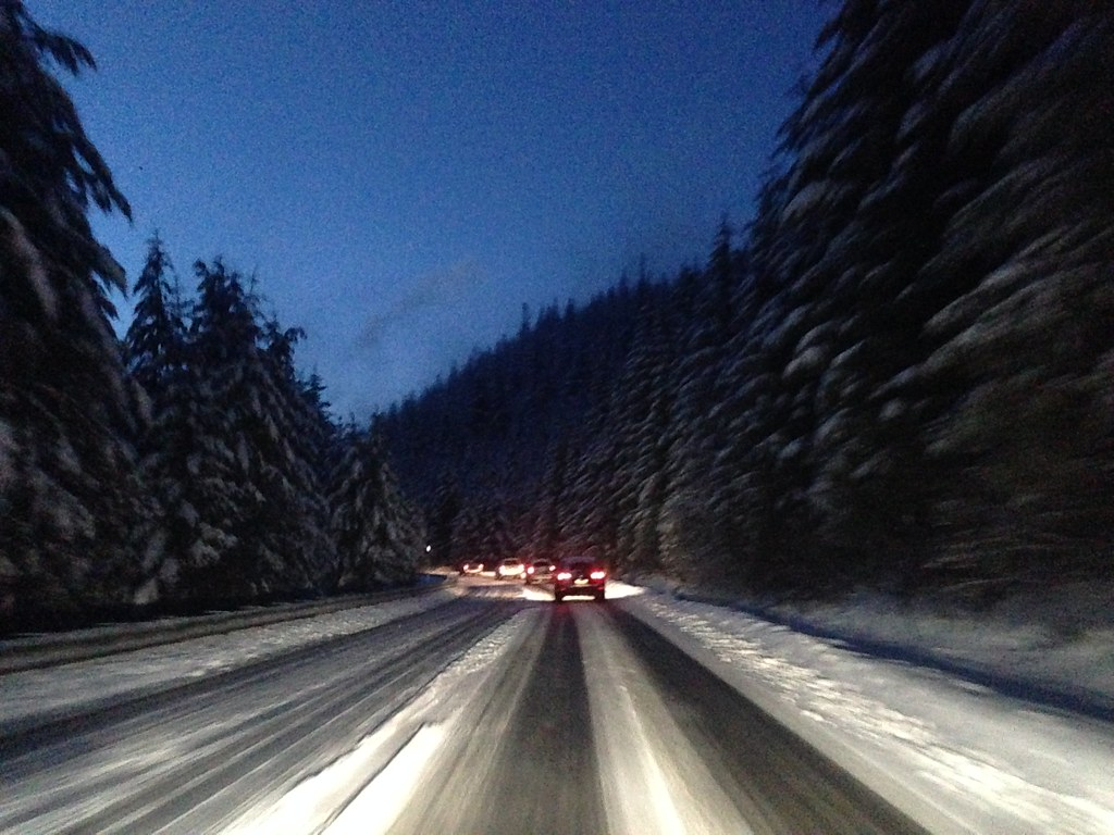 Driving back to Seattle