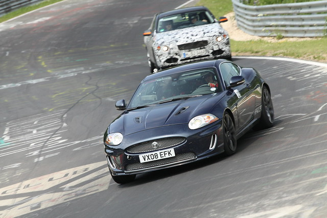 Jaguar XKR test mule 1