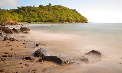longexposure sea mer beach sand nikon rocks sable caribbean plage haida galets caraïbes saintelucie saintlucia expositionlongue laborie nd1000 nikon1855mmf3556 petittrou nikond5100