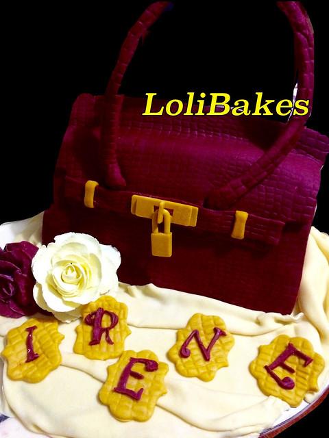 All Edible Hermes Bag Cake by Shirley Lazaro of LoliBakes
