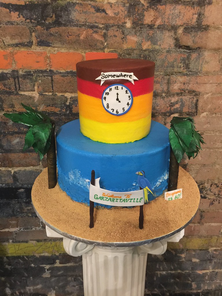 Pretty 80th Birthday Margaritaville Theme Party Fun Cake