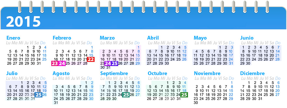 Calendario Colombia 2014 | Nominas