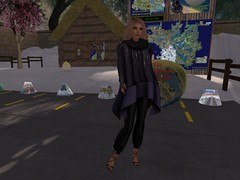 LG Boutique Traces of You - worn for the winter sims on Designing Worlds: Podcar Tours