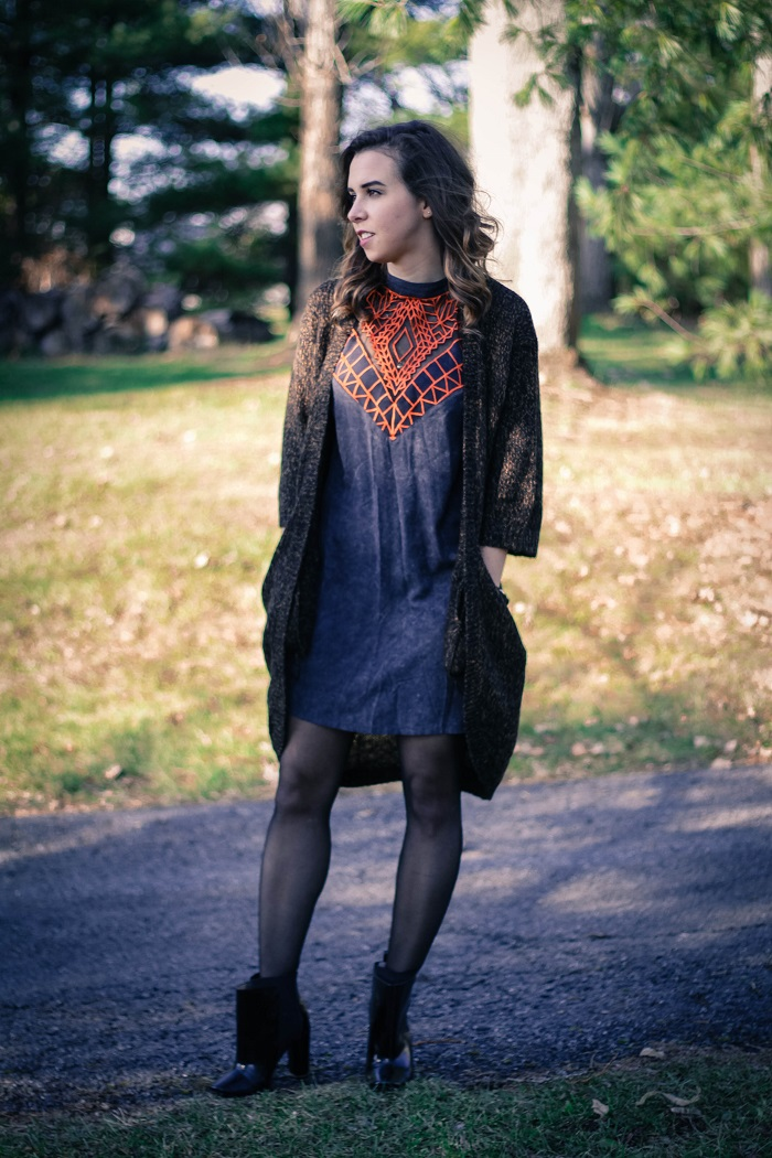 free people dress. diane von furstenberg booties. winter outfit. oversized sweater. thanksgiving outfit. cold weather. dc style.  va darling. 2