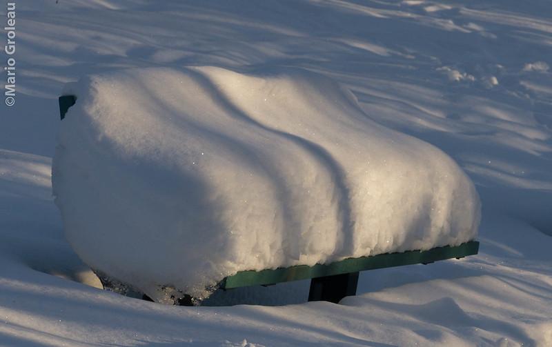 En attendant le printemps la neige se repose!