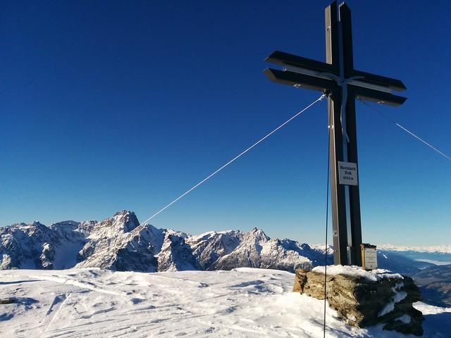 Gipfelkreuz Hornisch-Eck 2.552 m Sextner Dolomiten