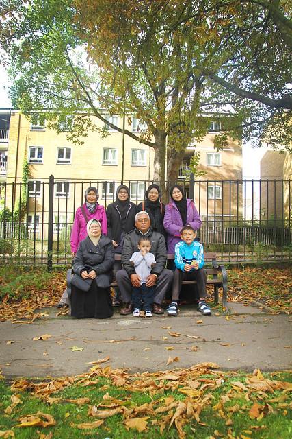 Autumn UK Trip 2014 - camden park family photo