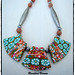 rosalindvernon1 posted a photo:	Polymer flower cane necklace