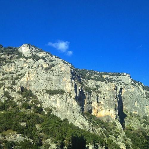 sky cloud nature rocks shadows hill greece macedonia land timeless