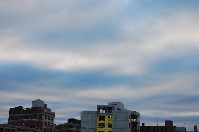 Painterly Clouds Over Boston
