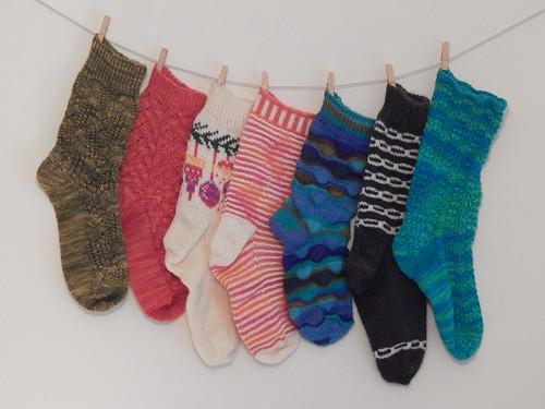 Singleton Socks of Shame, year end 2014