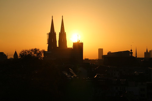 morning sky sunrise spring view cathedral cologne clear pullman dome