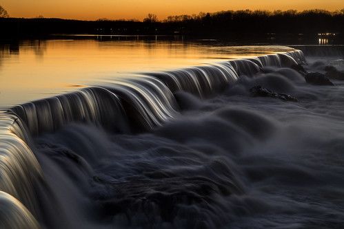 sunset waterfall falls mammoth lowell pawtucket niftyfifty
