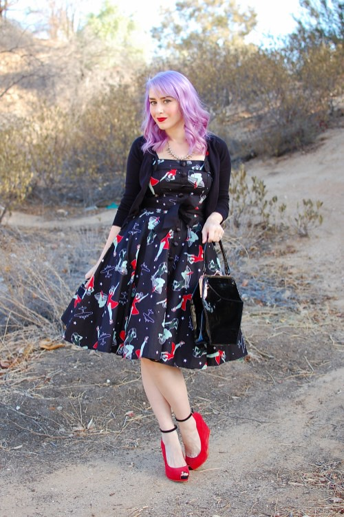Pin Hell Bunny Dolores WWII Zombie swing dress 002