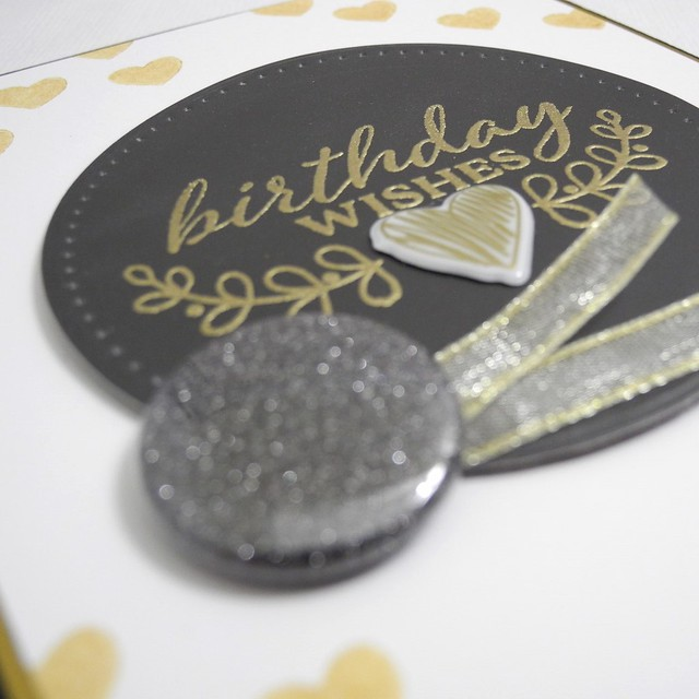 Birthday Wishes in Gold (detail)
