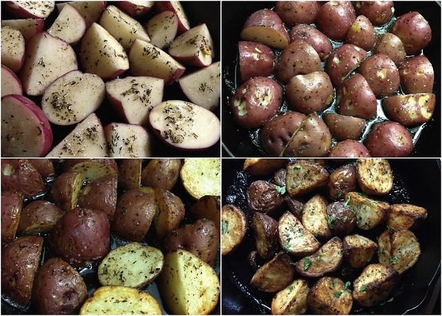 Crispy Oven Roasted Herb Potatoes