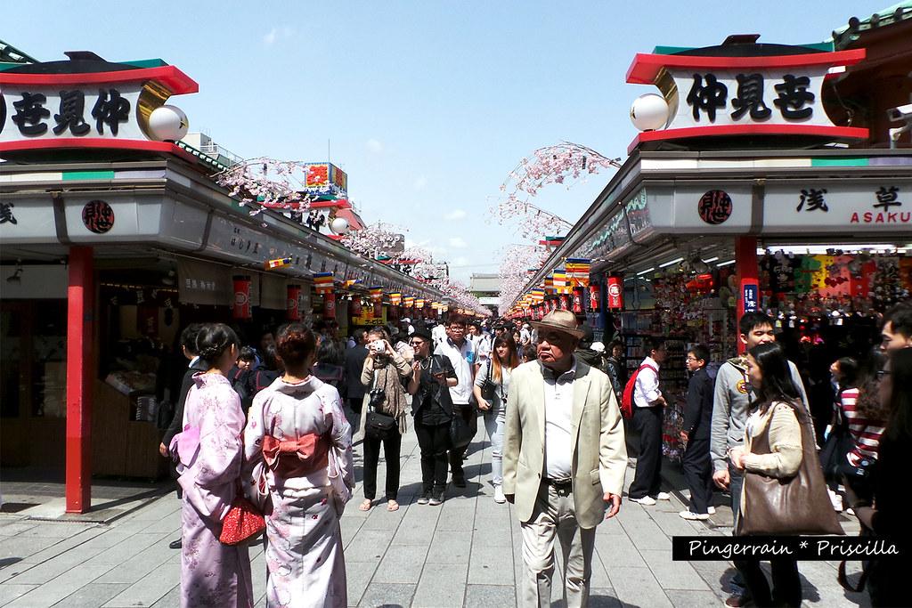 Shopping lane outside the temple