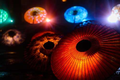 大山 大山傘ライトアップ