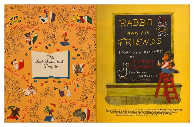 013-Rabbit and his Friends-  Escrito e ilustrado por  Richard Scarry- Copyright 1953-via goldengems.blogspot