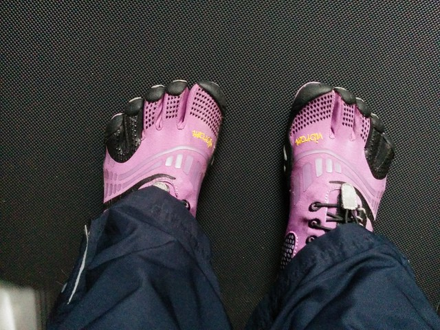 Vibrams. Yes. Still.
