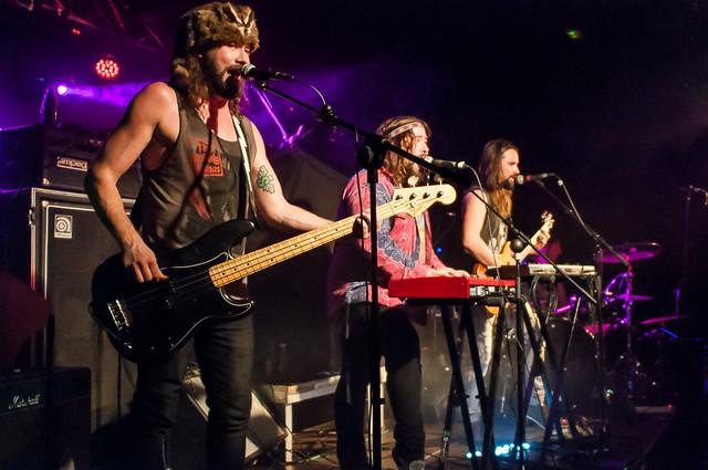 Bigelf con Bend Sinister y Jolly en la sala Sonora de Erandio, 8 de Noviembre de 2014.
