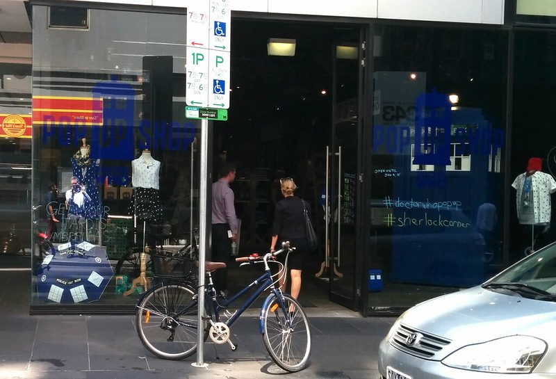 Doctor Who Popup Shop, Melbourne, Summer 2014-15