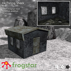 Frogstar - Ice Fishing Shack Poster (Blue)