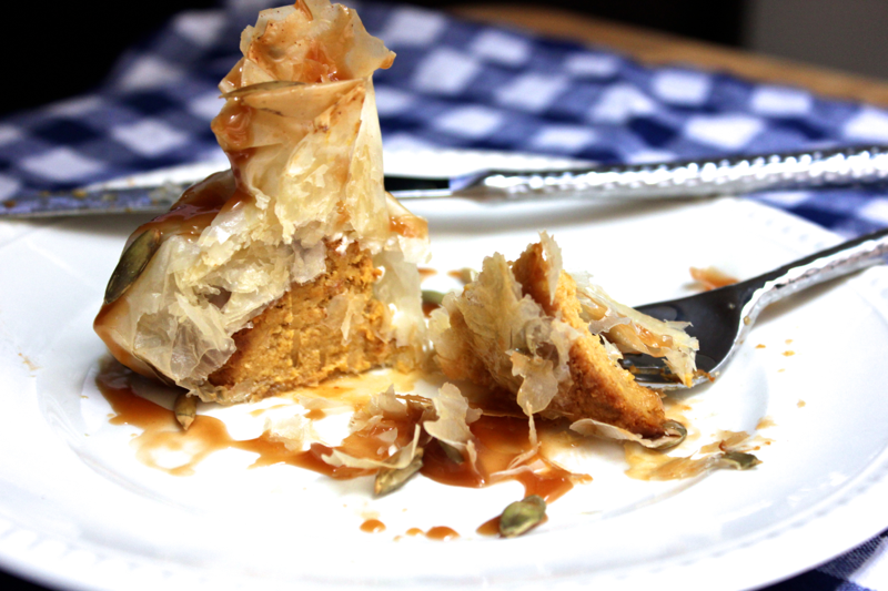 Pumpkin Cheesecake in Phyllo
