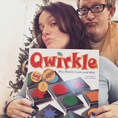 One of us is better at duck lips. And Qwirkle. Guess. #ducklips #gamenight #marriage #wehavefun #us #mylife #qwirkle #peoplemattermost #ayearoffaces #20141220 #365project