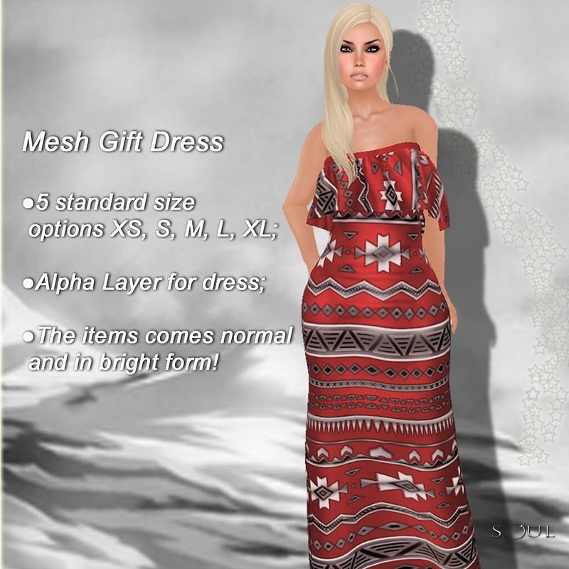 !Soul - Bolero Mesh Dress - Red