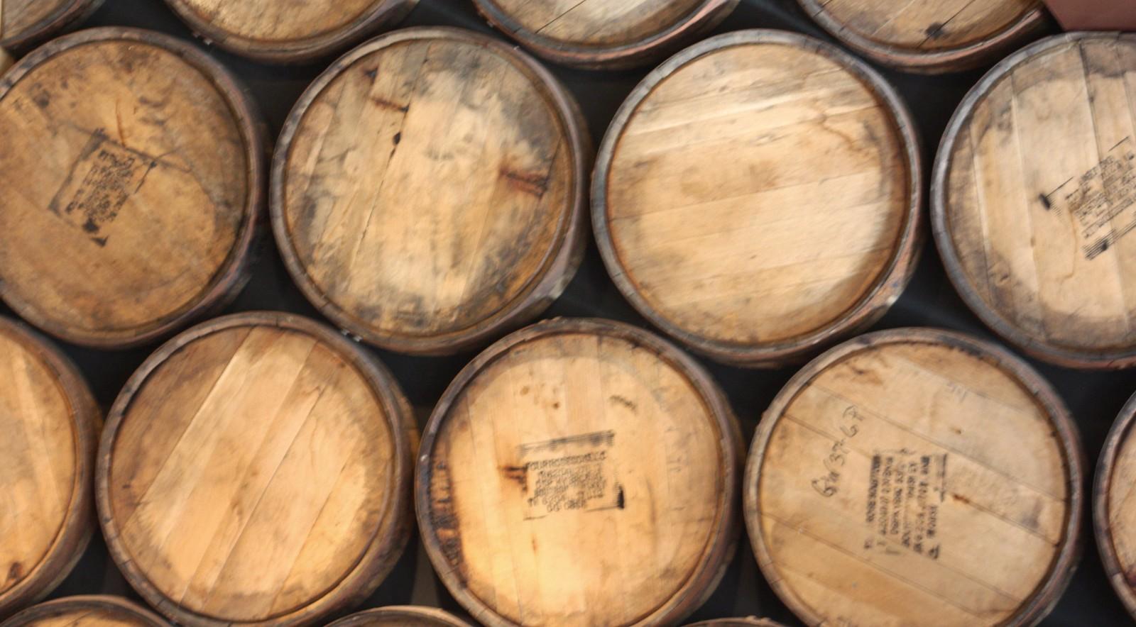 Beer barrels at Great Lakes Brewing Co