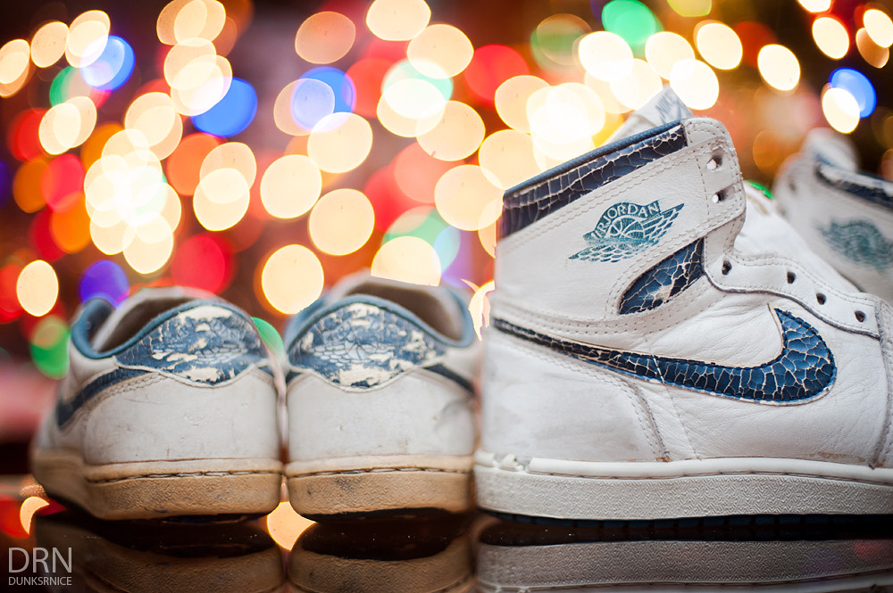 1985 Air Jordan I's.