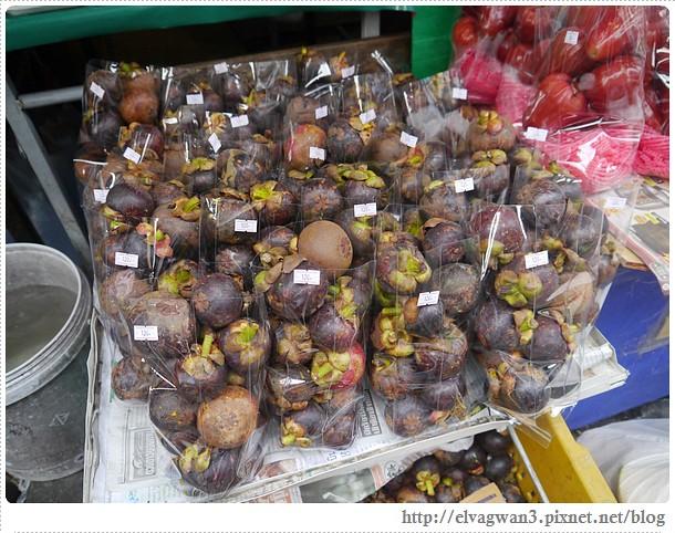 泰國-泰北-清邁-Somphet Market-Tip's Best Fresh Fruit Smoothie-市場-果汁攤-酸奶水果沙拉-燕麥水果優格沙拉-香蕉Ore0-泰式奶茶-早餐-13-592-1