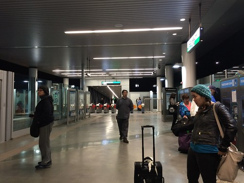 New BART to OAK Airport Connection platform