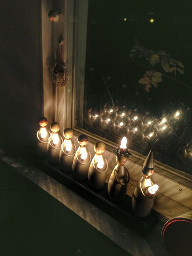 luciatåget - advent candlestick in the office