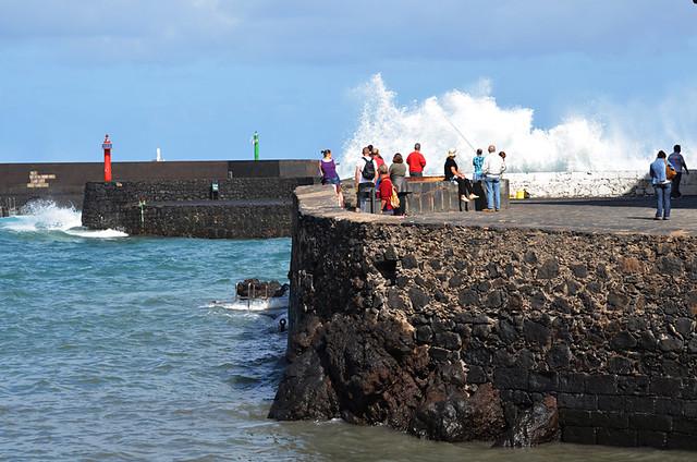 Big waves, Puerto de la Cruz, January, Tenerife