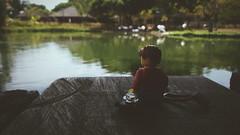 Enjoying nature.