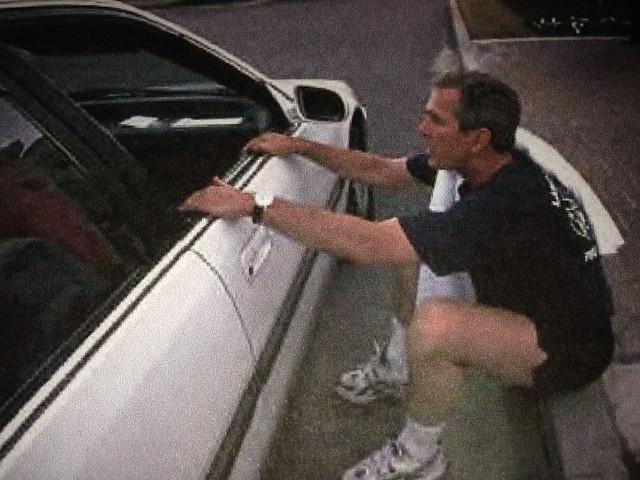 GW Bush jogging