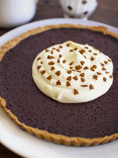 chocolate gingerbread tart