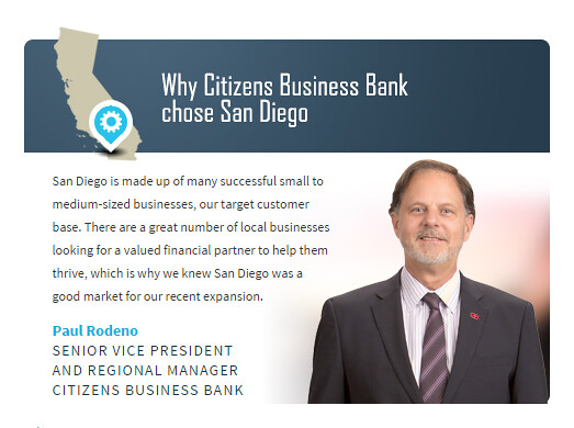 Why Citizens Business Bank Chose SanDiego