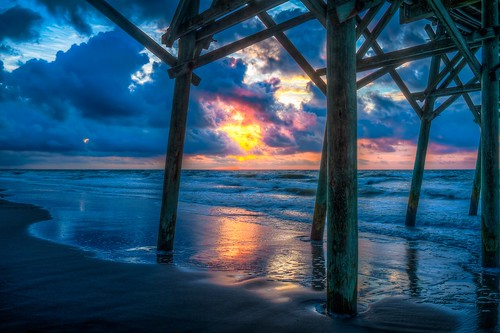 sunrise hdr 2014 august11 photomatix gardencitybeach gardencitypier beach2014 r3v00h3cyr8